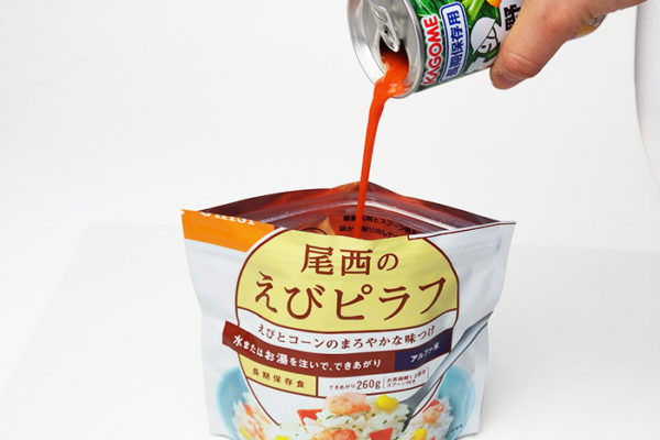 野菜ジュースでアルファ米がうまい?!非常食の裏ワザ「これイチ・ライス」の作り方、教えます♪